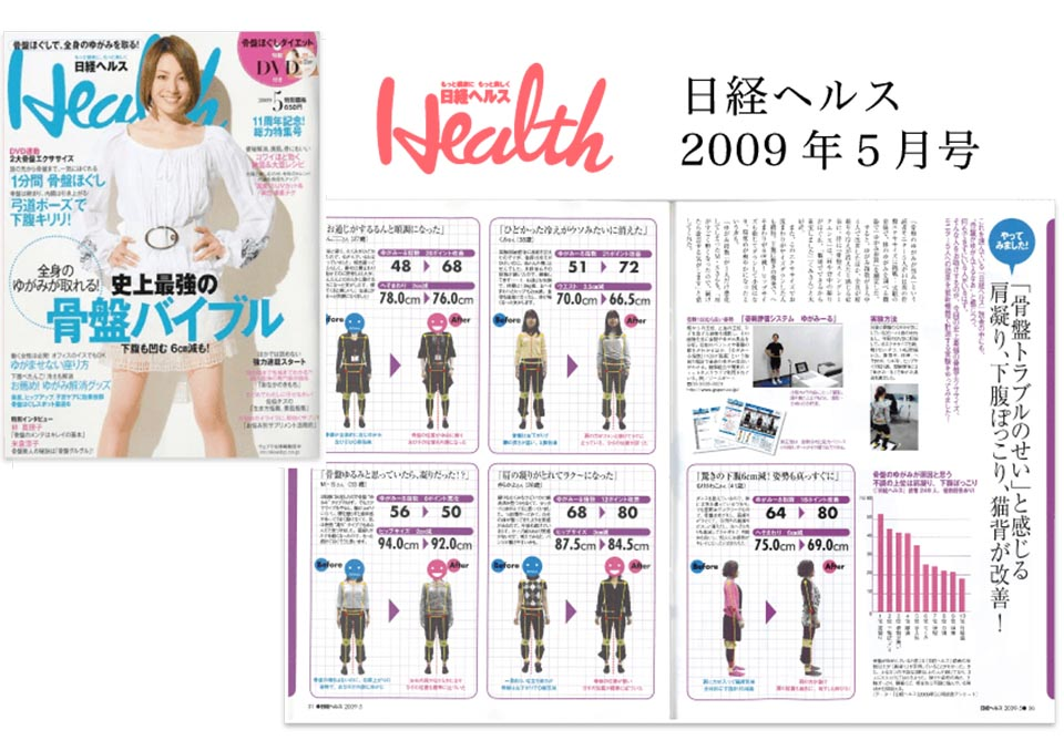 ゆがみーる雑誌掲載事例01 日経health様