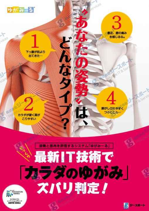 筋肉測定ゆがみーるポスター